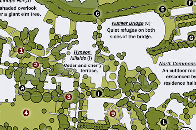Green Spaces Campus Map